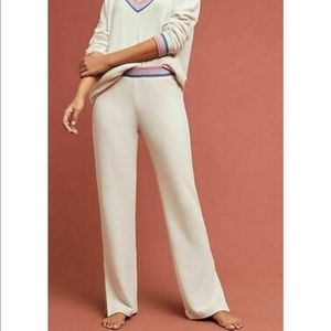 Anthropologie Striped CloudFleece Pants NWT Small